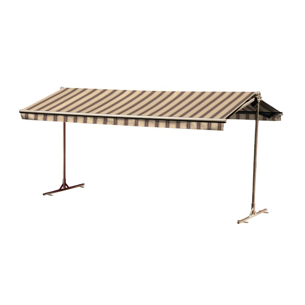 12 ft. Oasis Freestanding Motorized Retractable Awning (120 in. Projection) with