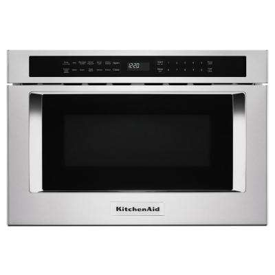 24 in. W 1.2 cu. ft. Built-in Microwave Drawer in Stainless Steel