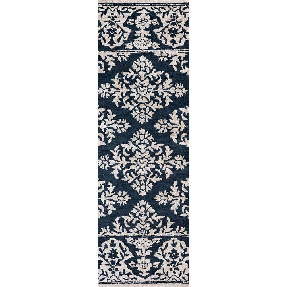 26 x 10 Rizzy Home Ashlyn Collection Wool Area Rug Ivory//blue