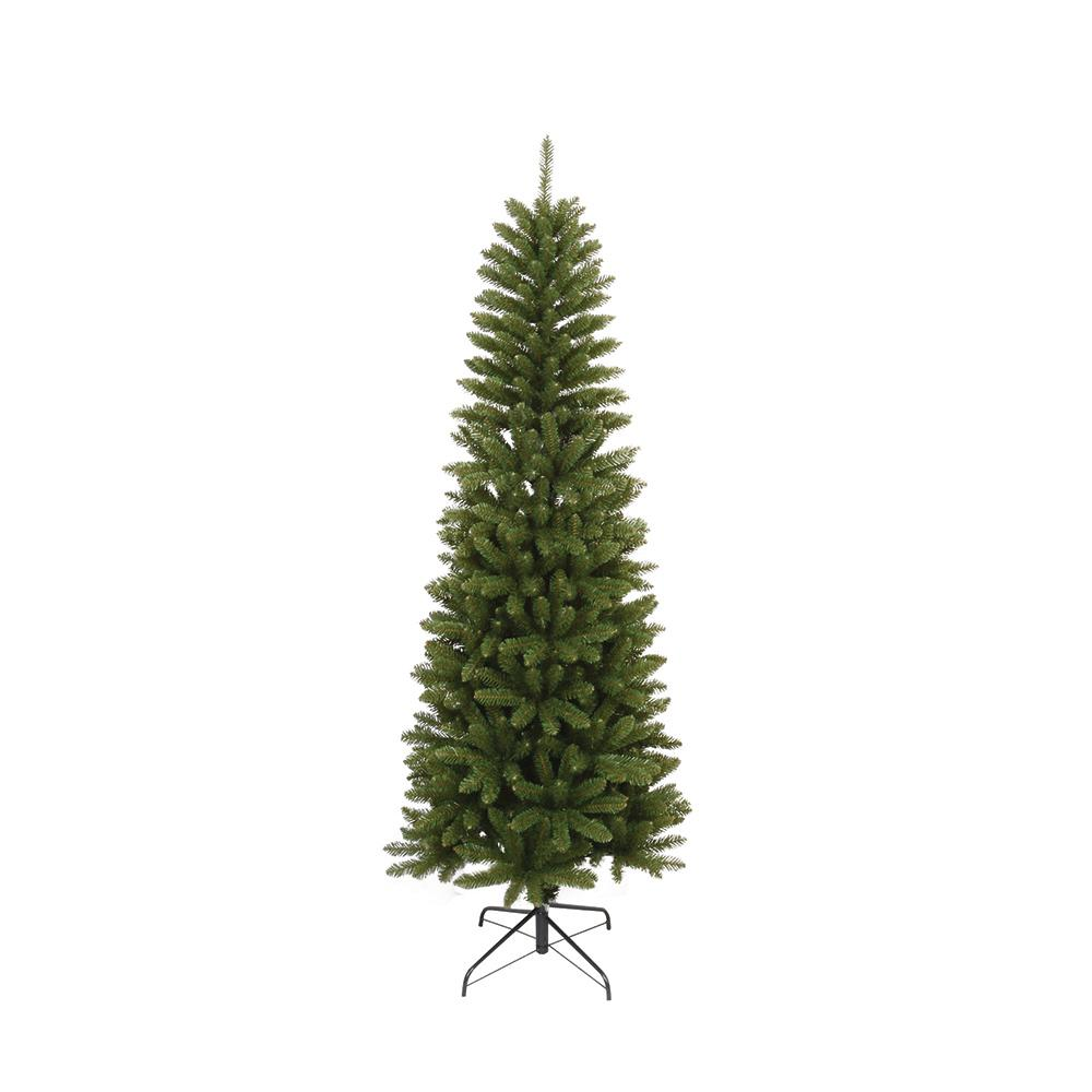 Home Depot Small Christmas Trees: 6.5 Ft. Unlit Slim Artificial Christmas Tree With 762 Tips