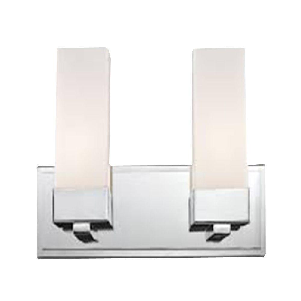 Filament Design Lawrence 2-Light Chrome Incandescent Bath Vanity Light