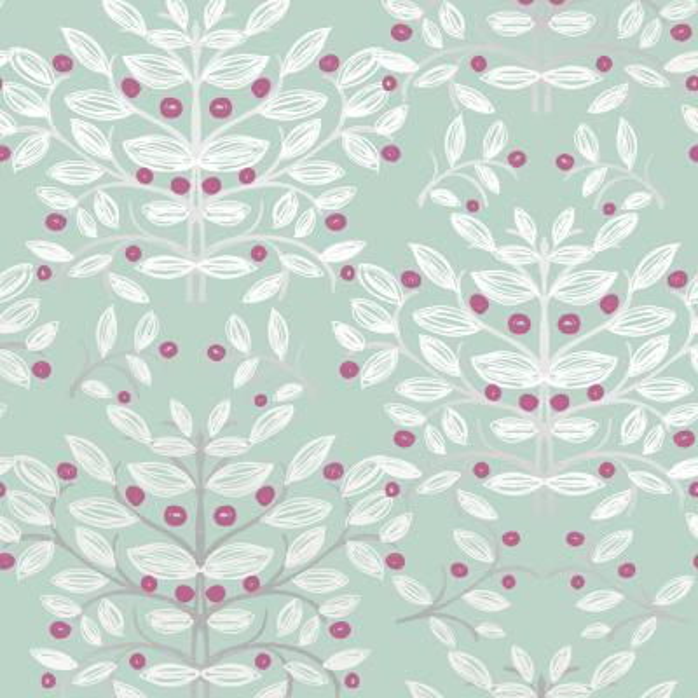 Kristofer Mint Botanical Wallpaper