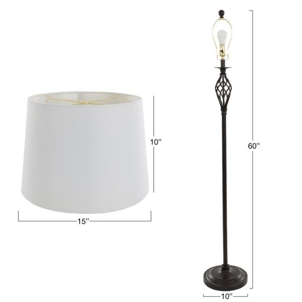 Table Lamps and Floor Lamp Set of 3 3 LED Bulbs included by Lavish Home Trademark Global 72-LMP3001 Spiral Cage Design