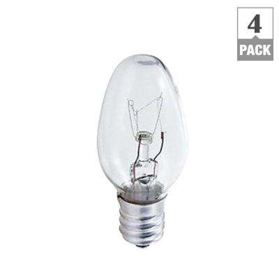 4-Watt Incandescent C7 Night Light Bulb (4-Pack)