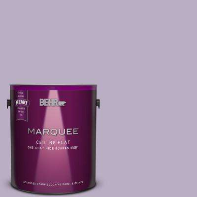 1 gal. #S100-3 Tinted to Courtly Purple Flat Interior Ceiling Paint and Primer in One