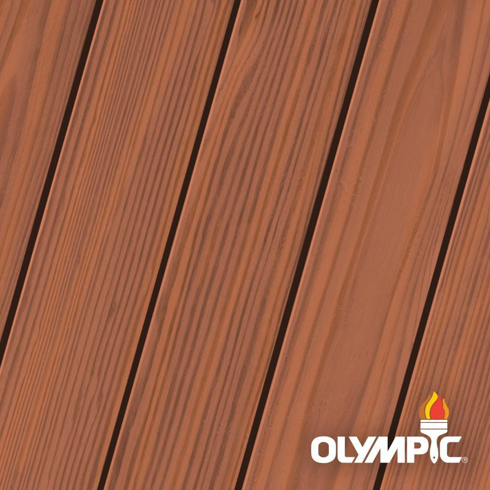 Exceptional Olympic Maximum 1 Gal. Rosewood Semi Transparent Exterior Stain And Sealant  In One