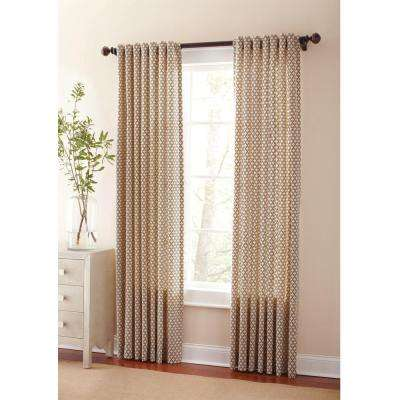 Semi-Opaque Hickory Moroccan Back Tab Curtain