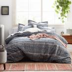 Cstudio Home by The Company Store Textillery 3-Piece Multicolored Geometric Cotton Percale King Duvet Cover Set