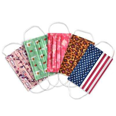 Planet Earth Kids Disposable Face Masks for Girls, Assorted Colors in 50 Pack