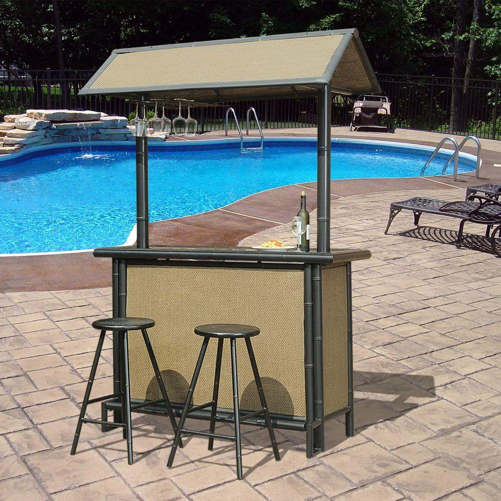 Superb Sunjoy Fiji 3 Piece Patio Bar Set