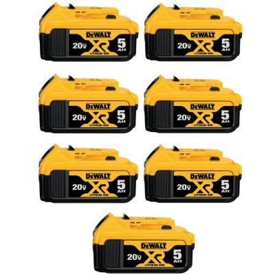 20-Volt MAX XR Premium Lithium-Ion 5.0Ah Battery Pack (7-Pack)