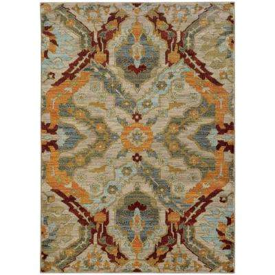 Felice Multi 3 ft. 10 in. x 5 ft. 5 in. Area Rug