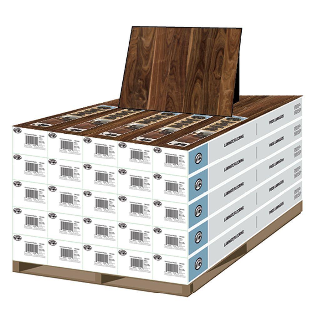 Hampton Bay Deep Espresso Walnut 8 mm T x 4-7/8 in. W x 47 1/4 in. L Laminate Flooring (478.25 sq. ft. / pallet)-DISCONTINUED