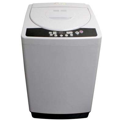 2.11 cu. ft. Compact Top Load Washing Machine in White with Stainless Steel  Tub