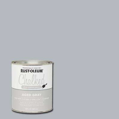 30 oz. Chalked Aged Gray Ultra Matte Interior Paint