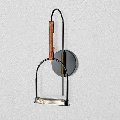 Ravenna 8 in. Black LED Sconce