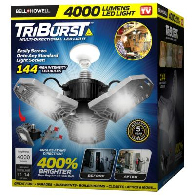 TriBurst 10.5 in. 144 High Intensity LED 4000 Lumens Flush Mount Ceiling Light with 3 Adjustable Heads