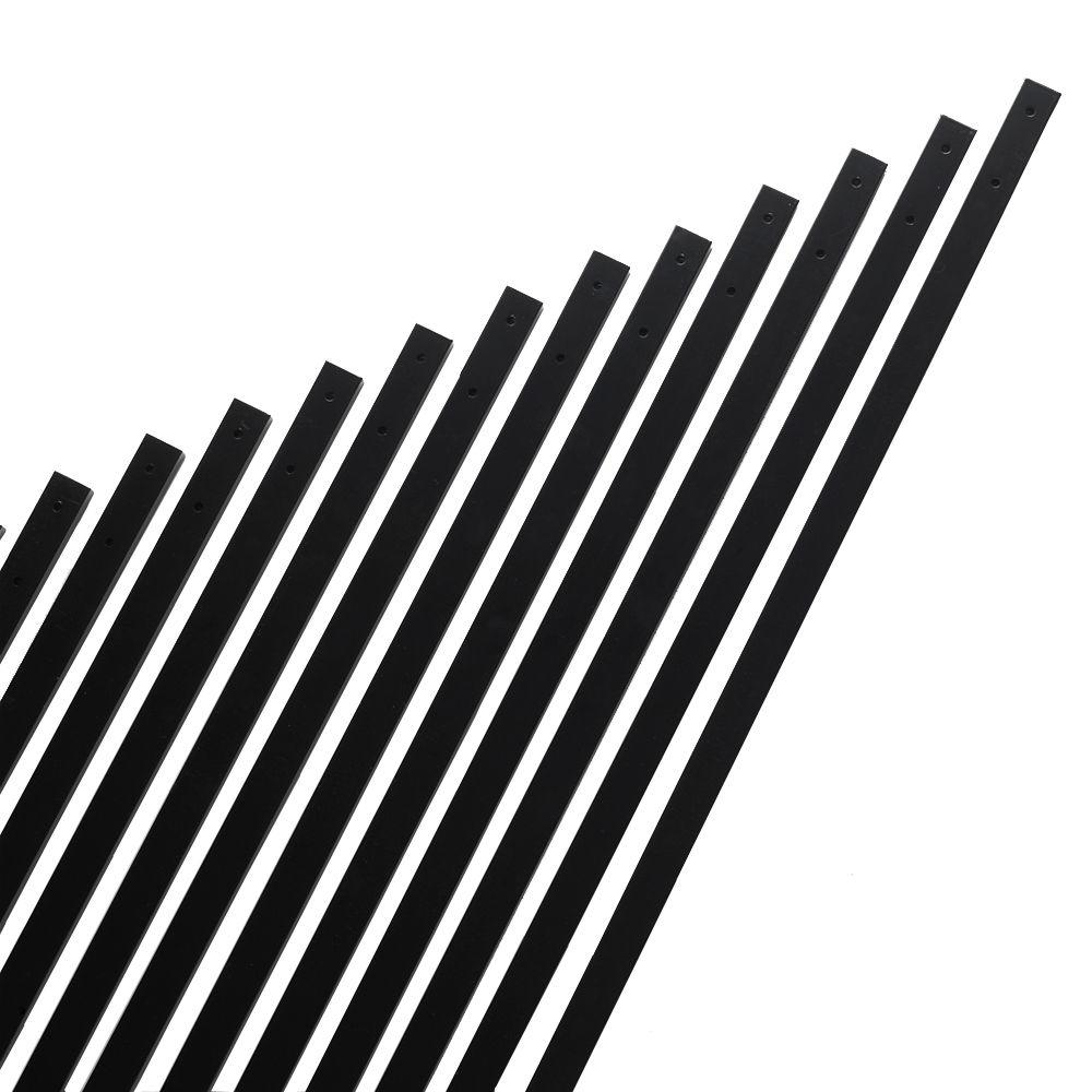 Universal Forest 32 in. x 1 in. Black Aluminum Rectangular Baluster (14-Pack)