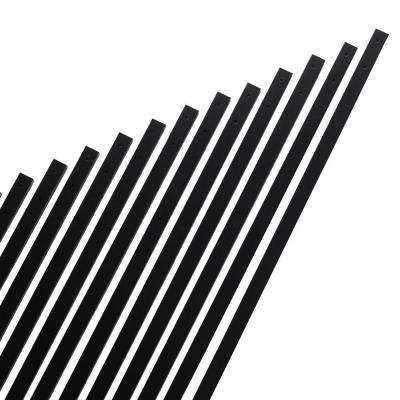 32 in. x 1 in. Black Aluminum Rectangular Baluster (14-Pack)