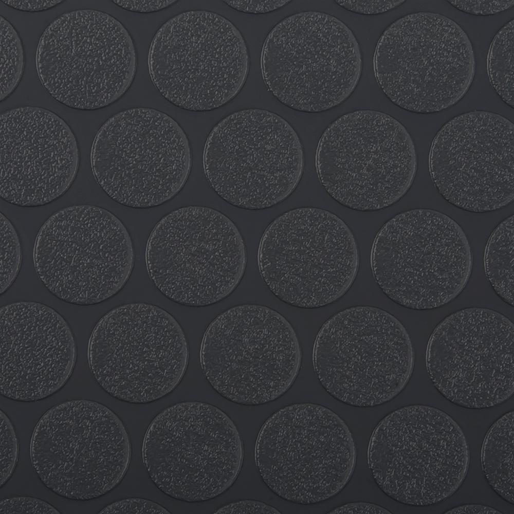 G-Floor Small Coin 10 ft. x 24 ft. Slate Grey Commercial Grade Vinyl Garage Flooring Cover and Protector