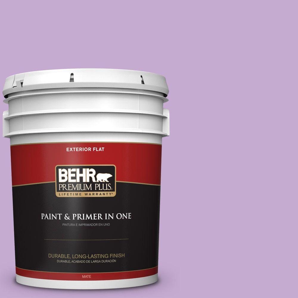 BEHR Premium Plus 5-gal. #660B-4 Pale Orchid Flat Exterior Paint