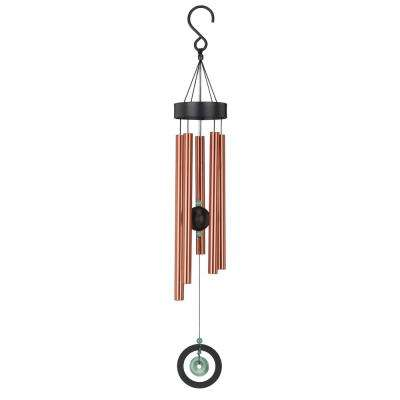 Precision-Tuned Healing Stone 32 in. Wind Chime - Jade