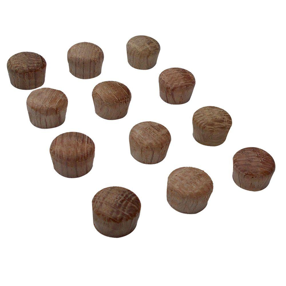 3/8 in. Unfinished Oak Button Plugs