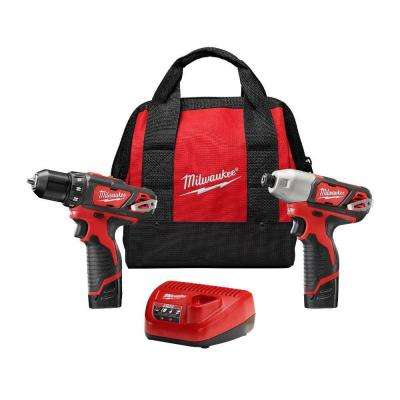 M12 12-Volt Lithium-Ion Cordless Drill Driver/Impact Driver Combo Kit (2-Tool) w/(2) 1.5Ah Batteries, Charger, Tool Bag