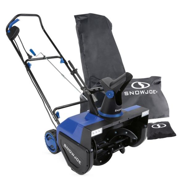 22 in. 15 Amp Electric Snow Blower with Dual LED Lights and Cover