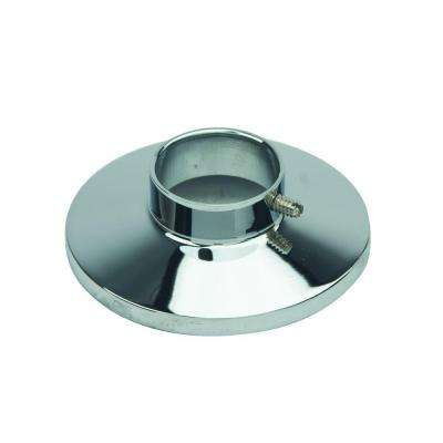 1/2 in. IPS Shallow Cast Brass Escutcheon with Set Screw in Chrome