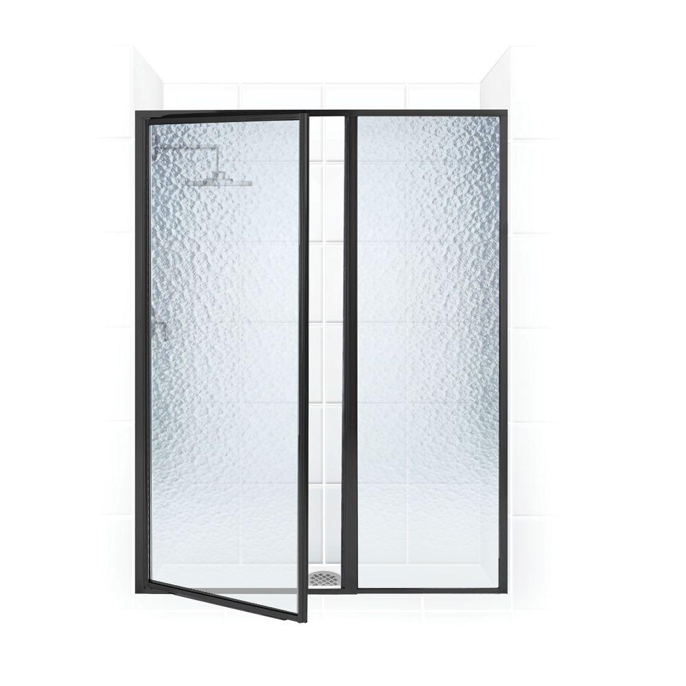Legend Series 53 in. x 66 in. Framed Hinged Swing Shower