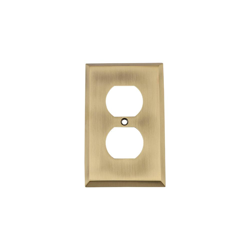 Amerelle Filigree 3 Toggle Wall Plate - Antique Brass-65TTTAB - The ...