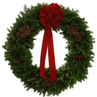36 in. Balsam Fir Classic Fresh Wreath : Multiple Ship Weeks Available