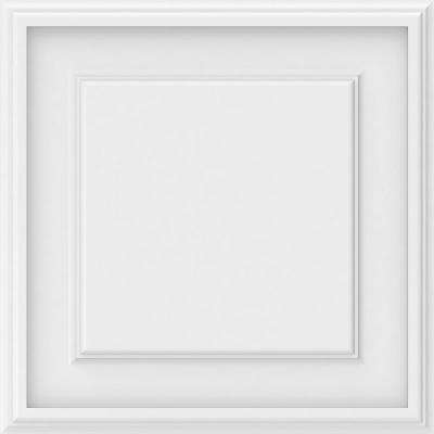 5/8 in. x 16 in. x 16 in. Legacy Raised Panel White PVC Decorative Wall Panel