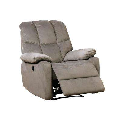 Novah Gray Flannelette Recliner Chair