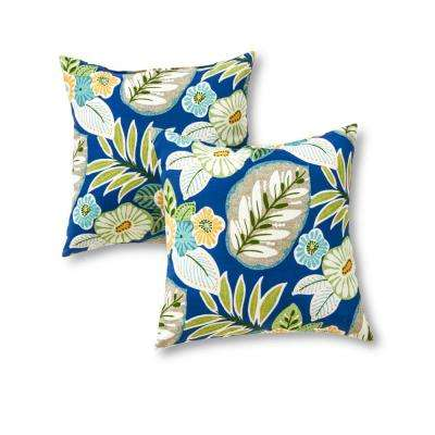 Marlow Floral Square Outdoor Throw Pillow (2-Pack)