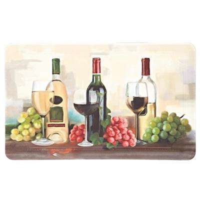 Rofino Wine Trio Multi 18 in. x 30 in. Kitchen Mat
