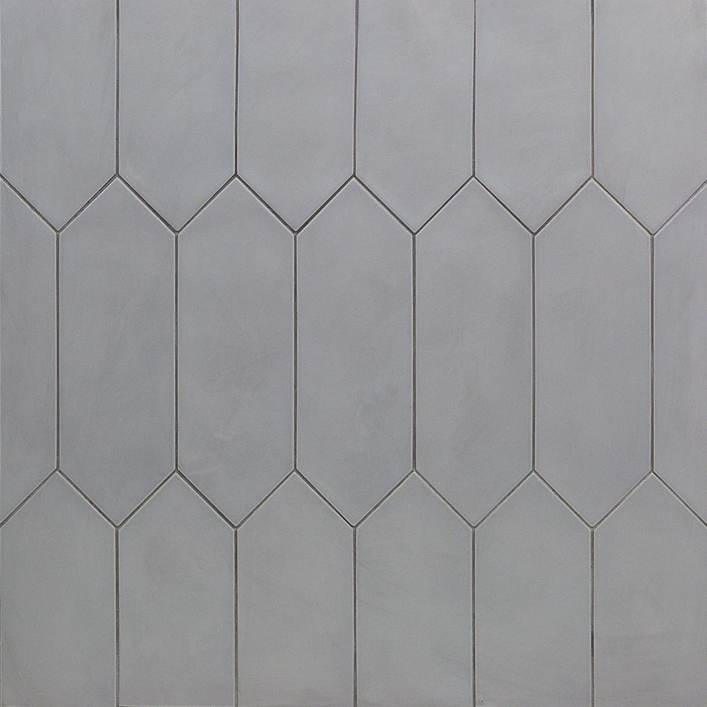 Splashback Tile Rus Dark Gray 4 In X 12 10 Mm Matte Porcelain