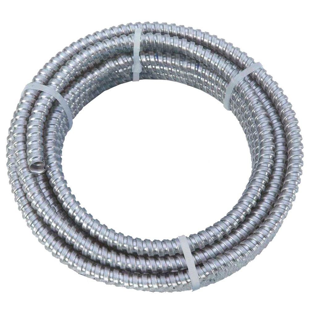 Afc Cable Systems 1 2 X 100 Ft Flexible Steel Conduit 5502 30 Question On For Exposed Wiring In Finished Garage Electrical