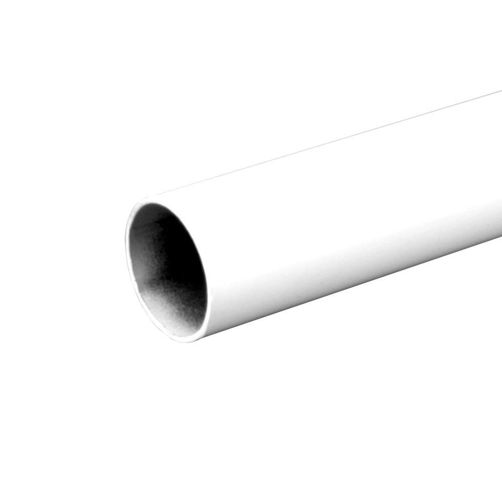 72 in. Heavy Duty White Closet Rod