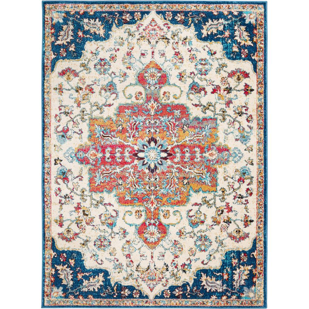 This review is fromserena daina ivory navy 7 ft 9 in x 10 ft 2 in indoor area rug