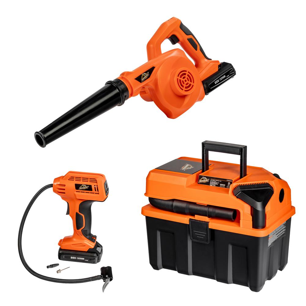 Armor All 20-Volt 2.5 Gal. 3-Tool Kit Cordless Wet/Dry Vac with Blower and Digital Inflator