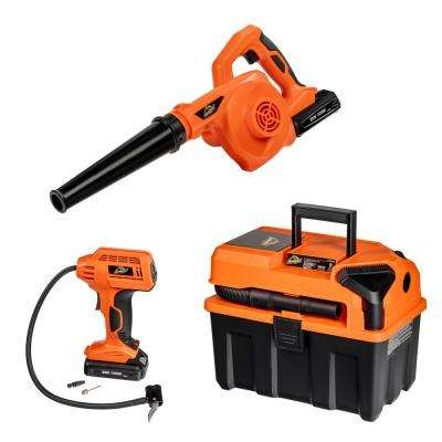 20-Volt 2.5 Gal. 3-Tool Kit Cordless Wet/Dry Vac with Blower and Digital Inflator