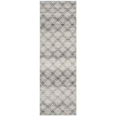 Adirondack Silver/Charcoal 3 ft. x 6 ft. Runner