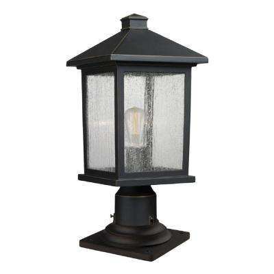 Malone 1-Light Oil-Rubbed Bronze Outdoor Pier Mount