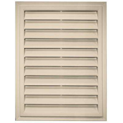 18 in. x 24 in. Rectangle Gable Vent in Almond