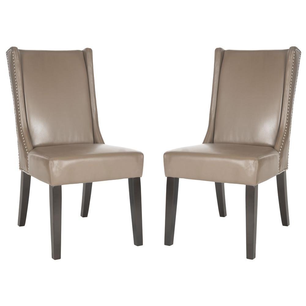 safavieh sher clay espresso bicast leather side chair set of 2 mcr4714b set2 the home depot. Black Bedroom Furniture Sets. Home Design Ideas
