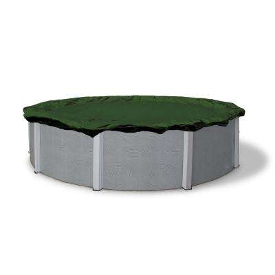 12-Year 18 ft. Round Forest Green Above Ground Winter Pool Cover