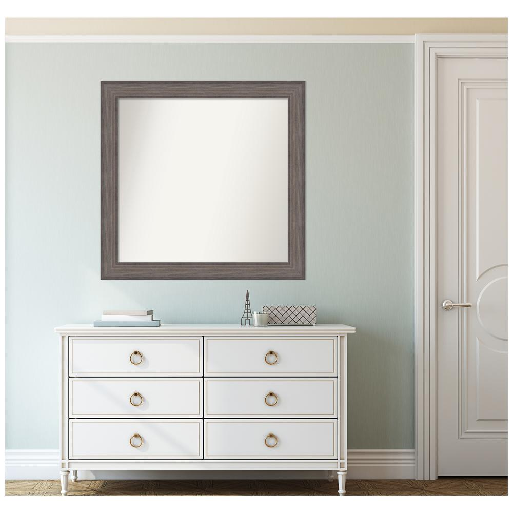 Amanti Art Custom Size 34.25 in. x 33.25 in. Country Barnwood Decorative Wall Mirror was $399.95 now $235.17 (41.0% off)