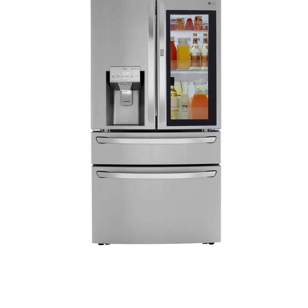 LG Electronics 22.5 cu. ft. Smart French Door Refrigerator InstaView Door-In-Door Dual and Craft Ice in PrintProof Stainless, PrintProof Stainless Steel LRMVC2306S